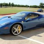 Blue Ferrari 458 Italia Car