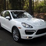 New White Porsche Cayenne Turbo