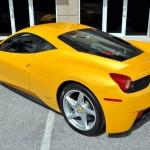 New Yellow Ferrari 458 Italia Exterior