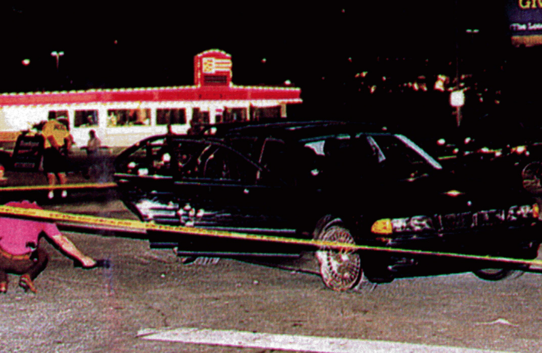 Crime Scene Photos Of Tupac Shakur Tupac bmw car tupac shakur was