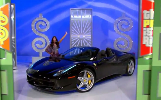 The Price Is Right Offers A Ferrari 458 Spider Prize