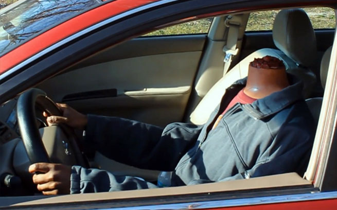 Humorous Headless Drive Thru Car Prank - Zero To 60 Times