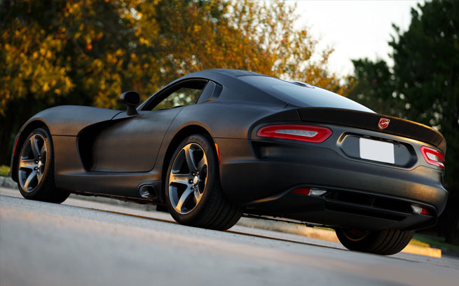 Wicked Srt Viper Wrapped In Black Mamba Snakeskin Zero To 60 Times