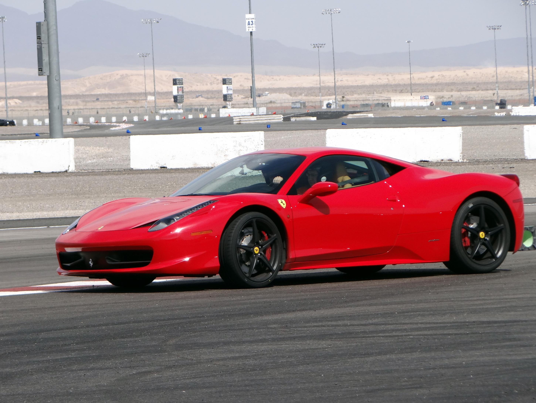 ferrari 458 italia experience at exotics racing vegas zero to 60 times. Black Bedroom Furniture Sets. Home Design Ideas