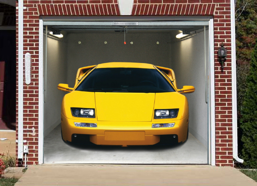 Interesting And Funny Garage Door Murals Zero To 60 Times