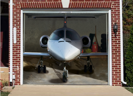 Private Plane With Garage : Interesting and funny garage door murals zero to times