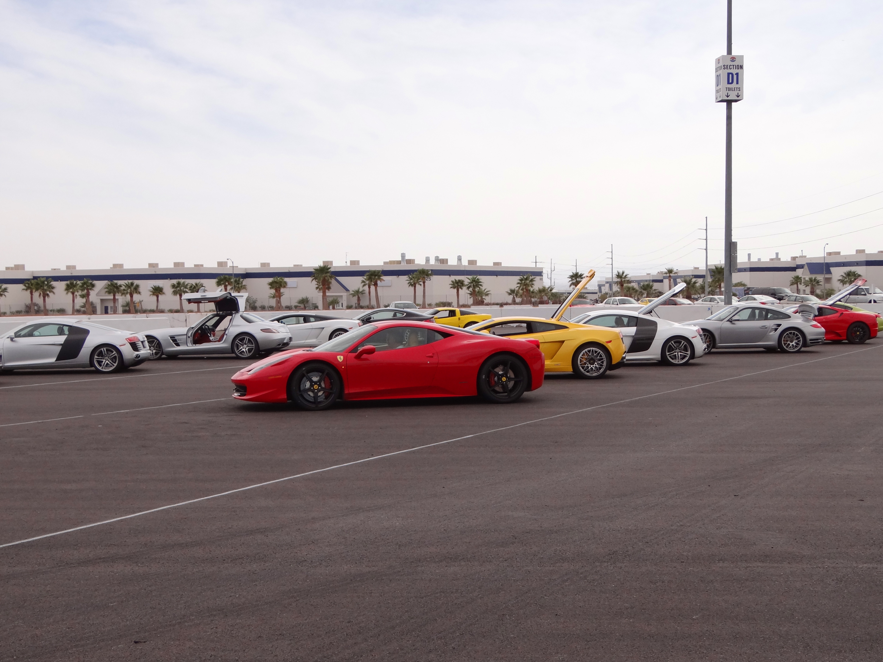 Exotic car rental las vegas track