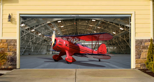 Interesting and funny garage door murals zero to 60 times for Airplane cockpit wall mural