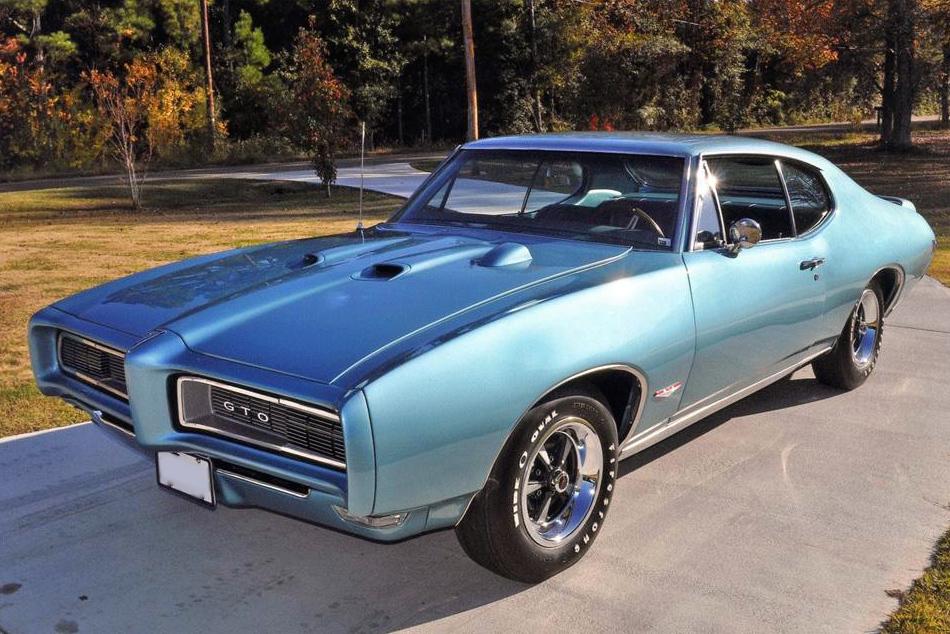 Blue Pontiac Gto Hardtop