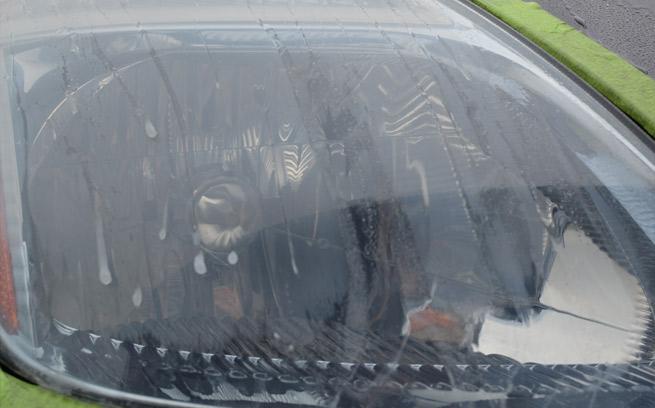 clear fogged headlight