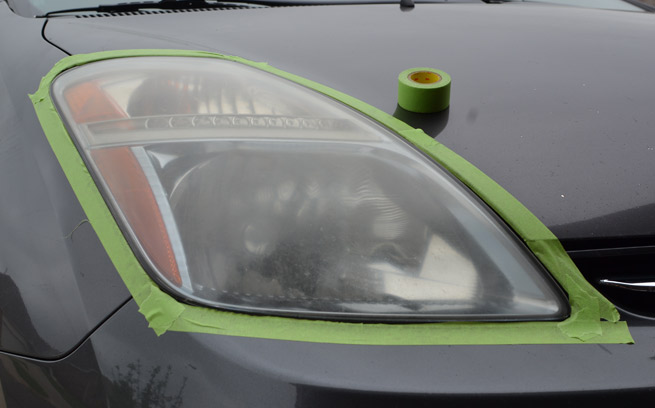 fogged headlight