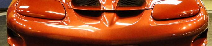 sunset orange metallic car