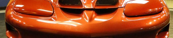 sunset orange metallic car