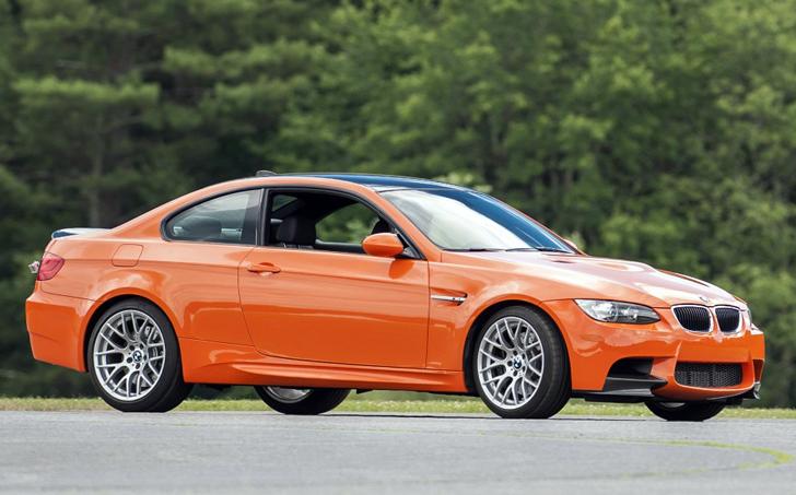 orange bmw e90