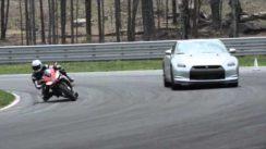 Aprilia RSV4 Factory APRC SE vs Nissan GT-R