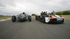 KTM X-Bow R vs Ariel Atom 300 on Track