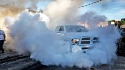 Massive 4X4 Dodge Ram Burnout!