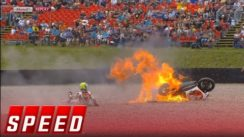 Johann Zarco's Super Bike Becomes Flying Fireball