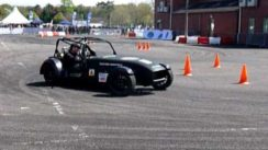 Westfield Electric Race Car Prototype Drifting