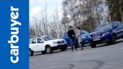 Best SUVs – Nissan Qashqai vs Dacia Duster vs Mazda CX-5
