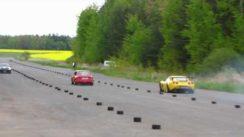 Drag Race: Corvette Z06 vs Skoda 120 with 580HP