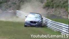 Jaguar XJ Supersport Crash on the Race Track