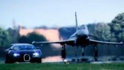 Bugatti Veyron vs Fighter Jet