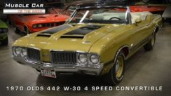 Muscle Car: 1970 Oldsmobile 442 W-30 4-Speed Convertible