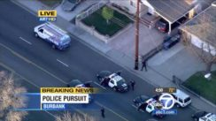 Police Chase in Hollywood, California