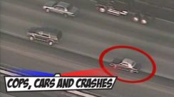 High speed Police Car Chase ends in Huge Crash