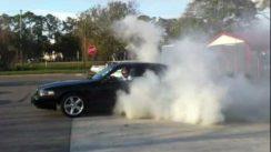 Huge Mercury Marauder Burnout Smoking the Tires