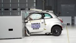 2013 Fiat 500 Overlap IIHS Crash Test Video