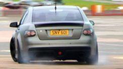 Supercharged Vauxhall VXR8 – Powerslides & Accelerations!