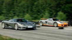 Porsche Carrera GT vs Koenigsegg CCR Evolution Drag Race
