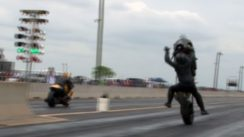 Turbo Drag Bike Wreck!
