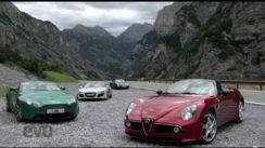 Audi R8 vs Alfa 8C vs Aston V8 vs Porsche 911