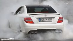 Huge Burnout in a Modified Mercedes C63 AMG