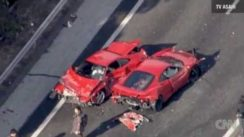Supercar Crash in Japan with 8 Ferraris & Lamborghini