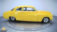 Yellow 1951 Mercury Custom Street Rod