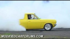 Huge Burnout from Datsun 1200 with LS1 Motor
