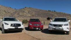 2013 Lexus RX 350 vs Mercedes GLK vs Infiniti FX37 0-60 Mashup Review