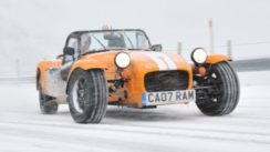 Caterham Supersport Snow Driving