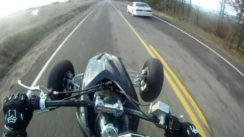 Honda TRX450r vs Ford Mustang Drag Race