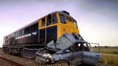 Car Hit by Train