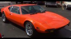 Orange DeTomaso Pantera at Car Show