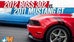 2012 Boss 302 vs 2011 Mustang GT Drag Race