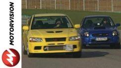 Mitsubishi Evo 7 vs Subaru WRX STI