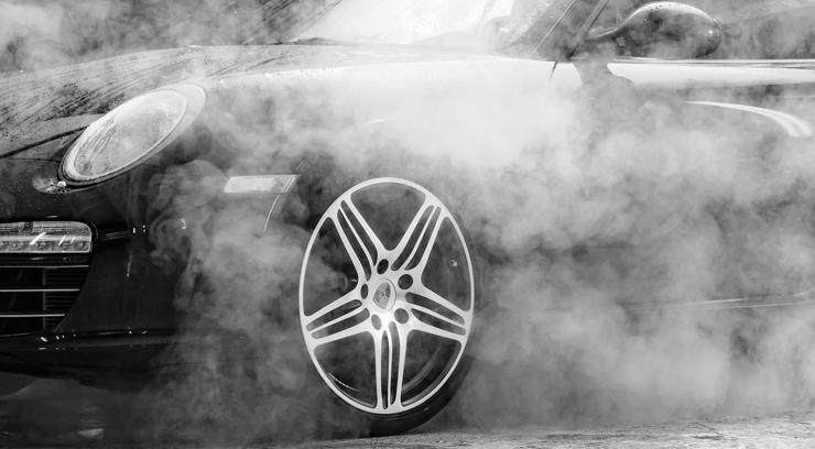 Smoking Car Engine