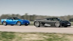 Corvette ZR1 vs Koenigsegg CCR Evo Drag Race