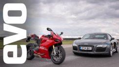 Audi R8 V10 vs Ducati 1199 Panigale R